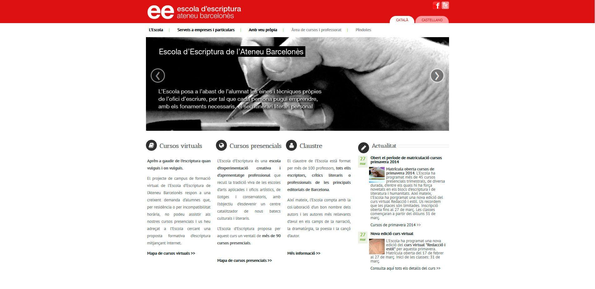 Escola Escriptura de l'Ateneu Barcelonès