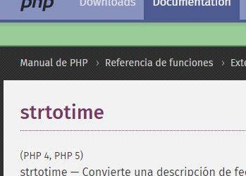 strtotime PHP